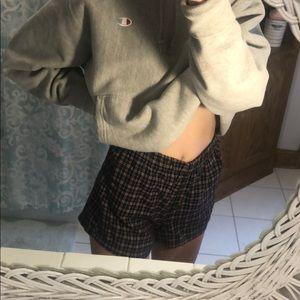 brandy melville plaid shorts!